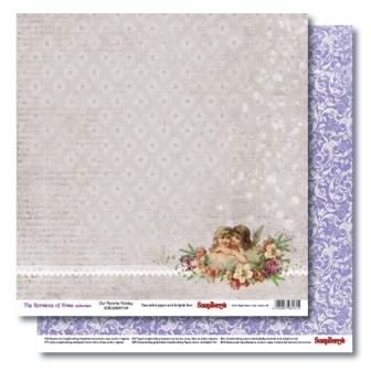 "Лист бумаги ""Рождество "", коллекция ""Новогодний Пейзаж"" (ScrapBerry's), 30х30 см"