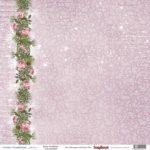 "Лист бумаги ""Зимняя роза"", колекция ""Зимняя Сказка"" (ScrapBerry's), 30х30 см"