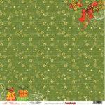 """Лист бумаги """"Рождественские ленты"""", колекция """"Рождественская Омела"""" (ScrapBerry's), 30х30 см"""