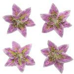 Цветы лилии (ScrapBerry's), нежно-сиреневые, 5 см, 4 шт