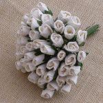 Бутоны роз закрытые, белый, 4 мм, 25 шт.