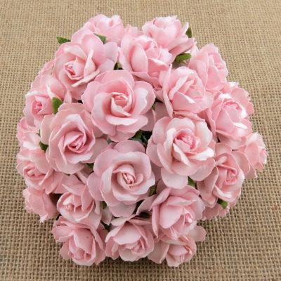 Розочки кудрявые, детский розовый, 3 см, 5 шт