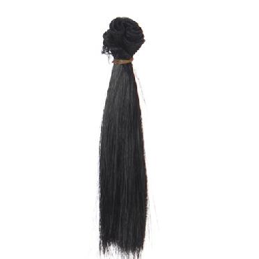 Трессы прямые 15 см*1м, черный