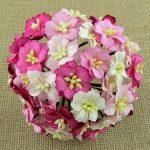 Цветы яблони 2,5 см, розовый микс, 5 шт