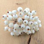 Зимние ягоды 12 мм, белый, 5 шт.