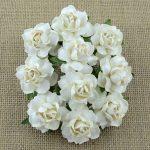 Кустовые розы 2,5 см, белый, 5 шт.