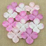 Гортензии микс в розовых тонах, 10 шт, 3,5 см