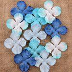 Гортензии микс в голубых тонах, 10 шт, 3,5 см
