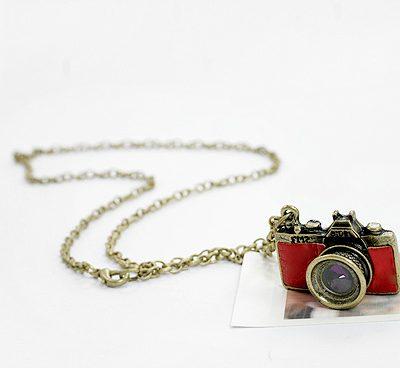 """Подвеска """"Винтажная фотокамера"""", красный, 3 см, 1 шт."""