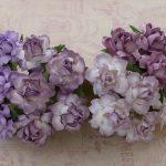 Кустовые розы 2,5 см, сиреневый микс, 4 шт.