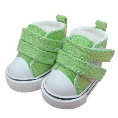 Кеды для куклы джинсовые, 5 см, зеленый
