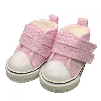Кеды для куклы джинсовые, 5 см, розовый