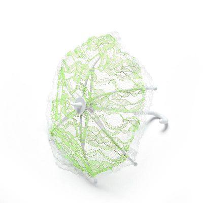 Кукольный зонтик, 1 шт. зеленый