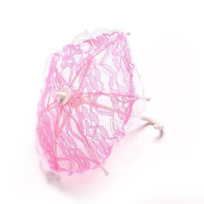 Кукольный зонтик, 1 шт. розовый.