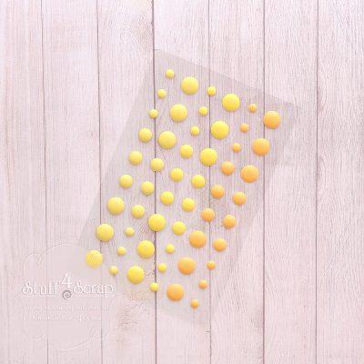 Эмалевые точки (дотс), желтый микс, 54 шт.