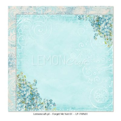 "Лист бумаги коллекции ""Незабудка-01"" (Lemon Craft), 30,5х30,5 см"