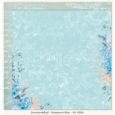 "Лист бумаги ""Gossamer Blue 01"" (Lemon Craft), 30,5х30,5 см"