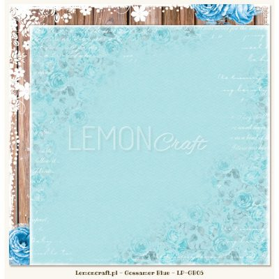 "Лист бумаги ""Gossamer Blue 05"" (Lemon Craft), 30,5х30,5 см"