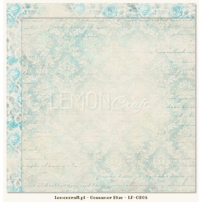 "Лист бумаги ""Gossamer Blue 06"" (Lemon Craft), 30,5х30,5 см"