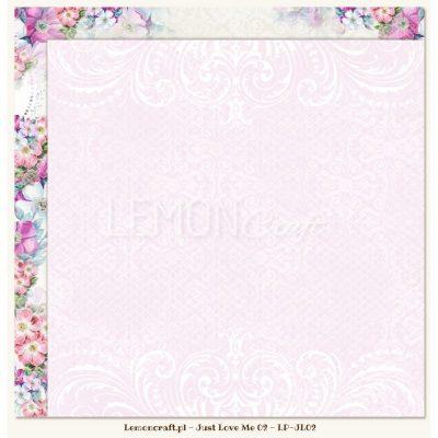 "Лист бумаги ""Just Love Me 02"" (Lemon Craft), 30,5х30,5 см"