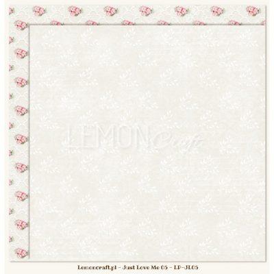 "Лист бумаги ""Just Love Me 05"" (Lemon Craft), 30,5х30,5 см"