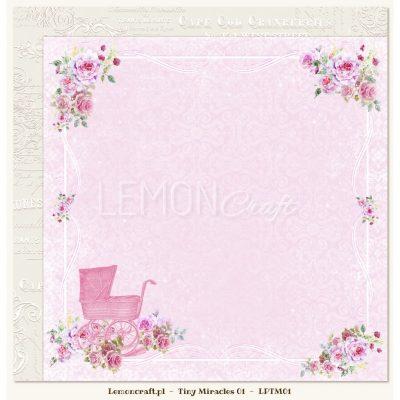 """Лист бумаги """"Tiny Miracles 01"""" (Lemon Craft), 30,5х30,5 см"""