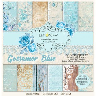 """Набор бумаги коллекции """"Gossamer Blue"""" (Lemon Craft), 30,5х30,5 см, 6 л."""