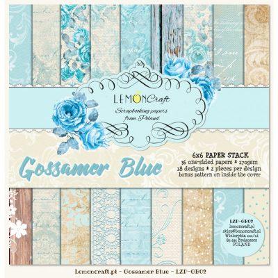 """Набор бумаги коллекции """"Gossamer Blue"""" (Lemon Craft), 15х15 см, 36 л."""