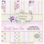 "Набор бумаги коллекции ""Just Love Me"" (Lemon Craft), 15х15 см, 18 л."