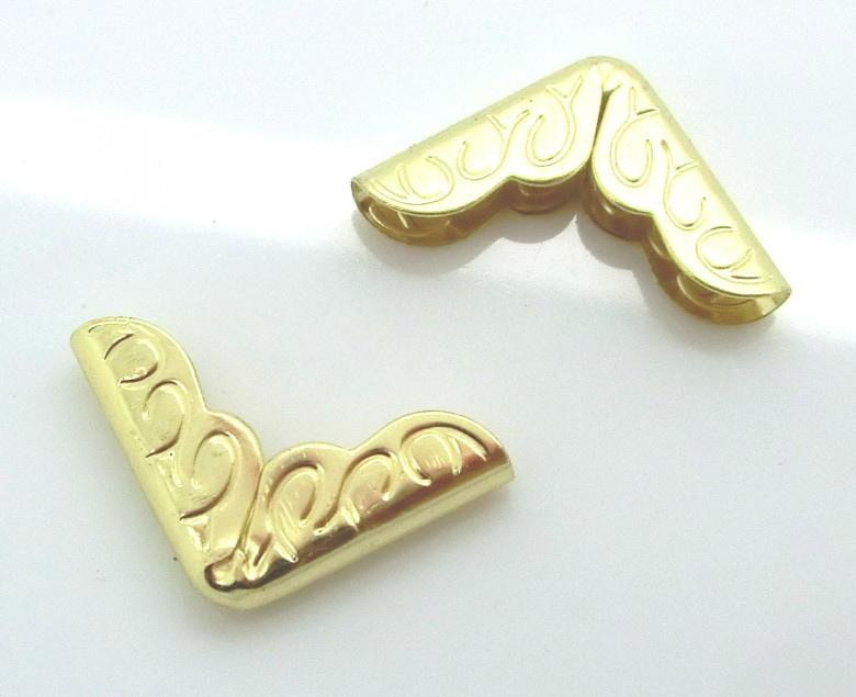 Уголки металлические декоративные, 16 мм, золото, 1 шт
