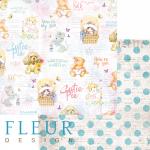 """Лист бумаги для скрапбукинга """"Мои друзья"""", коллекция """"Пупсики"""" (Fleur design), 30х30 см"""