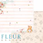 """Лист бумаги для скрапбукинга """"Маленькие радости"""", коллекция """"Пупсики"""" (Fleur design), 30х30 см"""