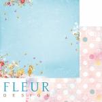 """Лист бумаги для скрапбукинга """"Солнечные зайчики"""", коллекция """"Пупсики"""" (Fleur design), 30х30 см"""
