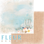 "Лист бумаги для скрапбукинга ""Паруса надежды"", коллекция ""Лагуна"" (Fleur design), 30х30 см"