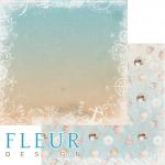 """Лист бумаги для скрапбукинга """"На морском дне"""", коллекция """"Лагуна"""" (Fleur design), 30х30 см"""