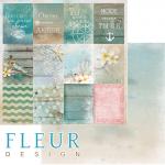 """Лист бумаги для скрапбукинга """"Карточки"""", коллекция """"Лагуна"""" (Fleur design), 30х30 см"""