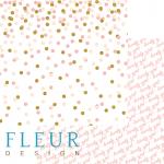 """Лист бумаги для скрапбукинга """"Торжество"""", коллекция """"Моя леди"""" (Fleur design), 30х30 см"""