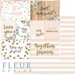 """Лист бумаги для скрапбукинга """"Карточки"""", коллекция """"Скажи """"Да""""!"""" (Fleur design), 30х30 см"""