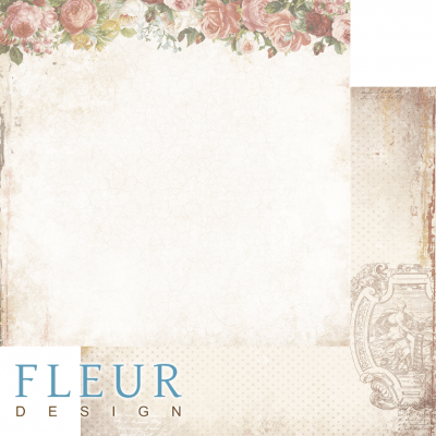 "Лист бумаги для скрапбукинга ""ИСТИНА"", коллекция ""Be mine"" (Fleur design), 30х30 см"