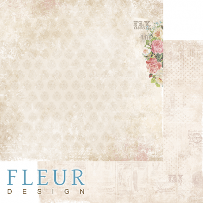 "Лист бумаги для скрапбукинга ""На крыльях любви"", коллекция ""Be mine"" (Fleur design), 30х30 см"