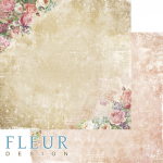 """Лист бумаги для скрапбукинга """"Признание"""", коллекция """"Be mine"""" (Fleur design), 30х30 см"""