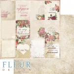 "Лист бумаги для скрапбукинга ""Карточки"", коллекция ""Be mine"" (Fleur design), 30х30 см"