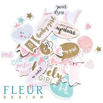 """Набор высечек, коллекция """"Моя леди"""" (Fleur design)"""
