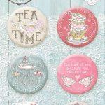 "Скрап-фишки (топсы) коллекции ""TEA TIME""  (Bee Shabby), 6 шт."