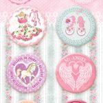 "Скрап-фишки (топсы) коллекции ""Sweet GIRL""  (Bee Shabby), 6 шт."