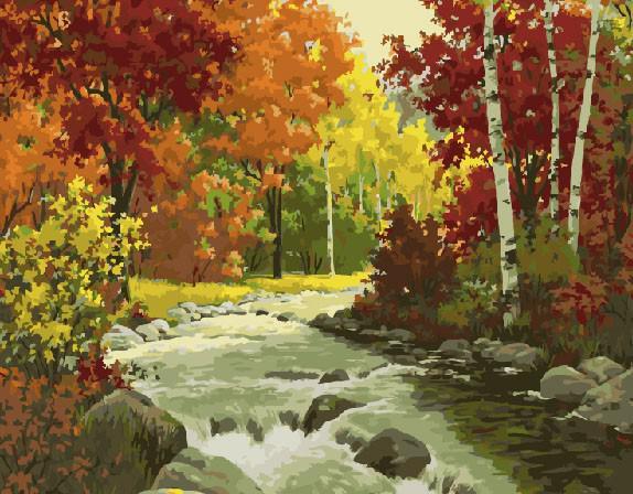 "Картина по номерам ""Осень в лесу"", 40х50 см."