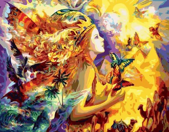 """Картина по номерам """"Солнечная принцесса"""", 40х50 см."""