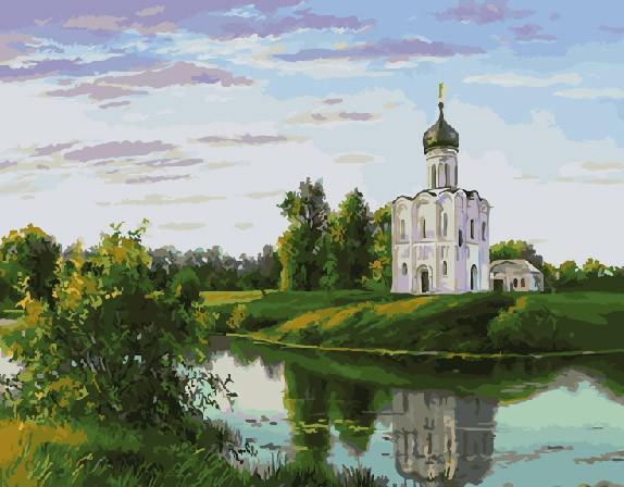 "Картина по номерам ""Церковь на берегу"", 40х50 см."