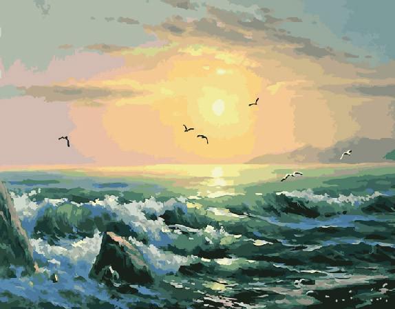 "Картина по номерам ""Морской пейзаж"", 40х50 см."