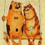 """Картина по номерам """"Рыжие коты"""", 40х50 см."""